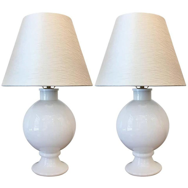 Orrefors 1970s Swedish Glass Table Lamps - A Pair For Sale - Image 9 of 9