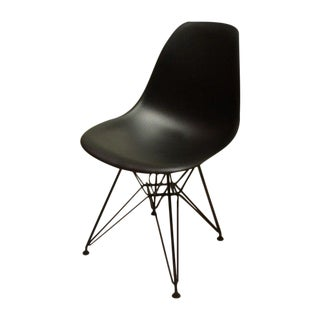 Black Eames Eiffel Side Shell Chairs - A Pair