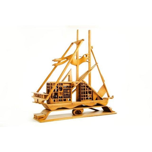 Jan Des Bouvrie Sidetable Wit.Jan De Swart Monumental Sculptural Ship