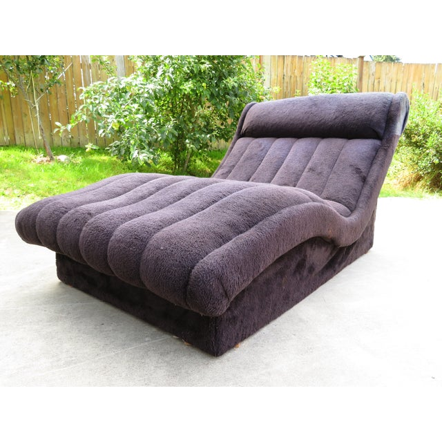 1970s 1970s Vintage Adrian Pearsall Style Wave Chaise For Sale - Image 5 of 11