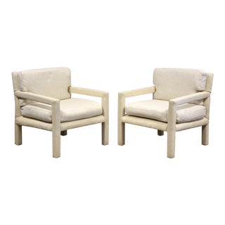 Milo Baughman for Thayer Coggin Parsons Chairs- a Pair For Sale