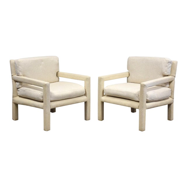 Milo Baughman for Thayer Coggin Parsons Chairs- a Pair For Sale