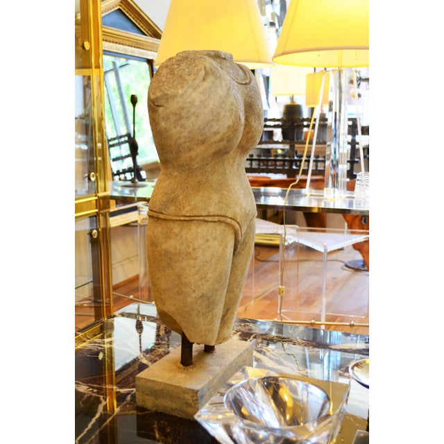 Indian Style Marble Torso Sculpture For Sale In Chicago - Image 6 of 7