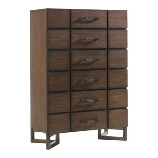 Lexington Home Skyline 10 Drawer Chest-A Pair For Sale