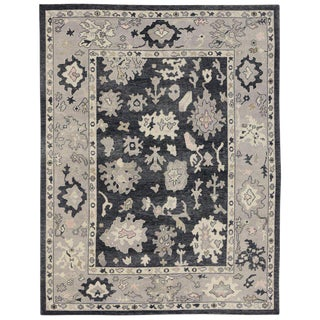 New Contemporary Turkish Oushak Luxe Rug With Hollywood Regency Directoire Style - 10′ × 12′5″ For Sale