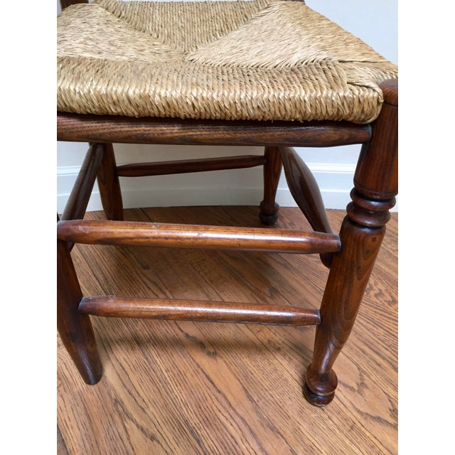 Wood 19th Century Americana Side Chair With Rush Seat For Sale - Image 7 of 10