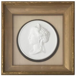 Bisque Cameo in Gilt Frame For Sale