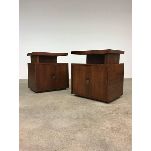 Pair of Andrew Szoeke End Tables in Rosewood For Sale - Image 9 of 9