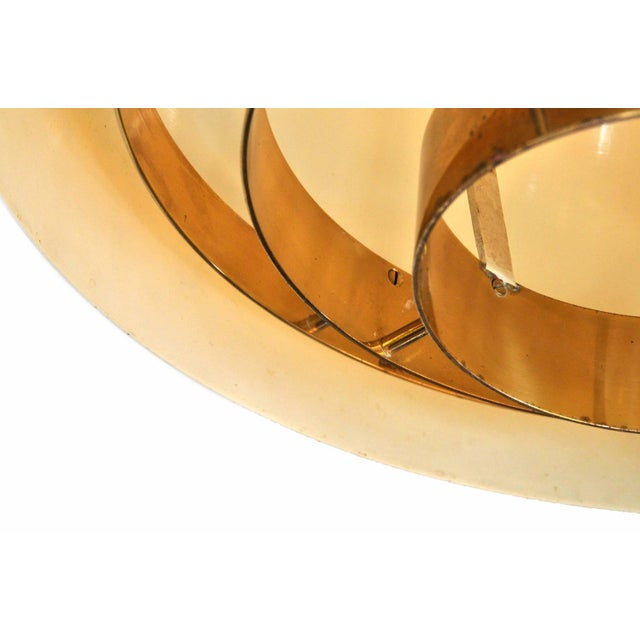 Brass Pendant Lamp by Vereinigte Werkstatten Munchen, 1960s For Sale In New York - Image 6 of 10