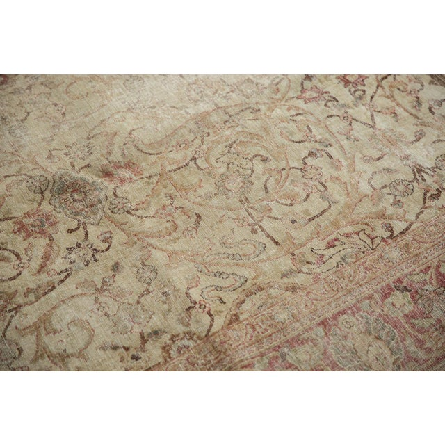 "Vintage Distressed Sivas Carpet - 8' x 10'10"" For Sale In New York - Image 6 of 11"