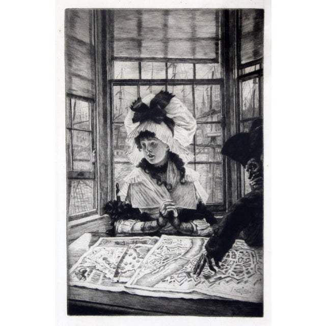James Jacques Joseph Tissot (1836-1902) Histoire ennuyeuse etching, 1878, on wove paper, from the edition of about 100,...