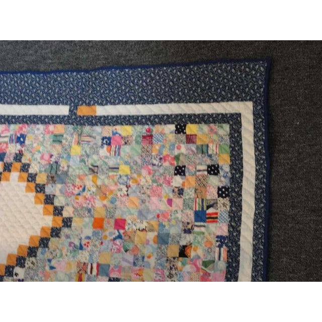 1930s Fantastic Mini-Pieced Postage Stamp Quilt from Pennsylvania For Sale - Image 5 of 10