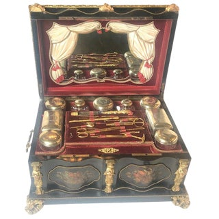 Large 19th Century Neoclassical Etwee Dresser Vanity Box For Sale