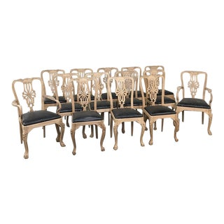Early 20th Century Antique Chippendale Chairs- Set of 14 For Sale