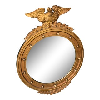 Antique Giltwood Federal Eagle Mirror For Sale