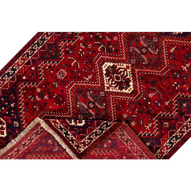 "Islamic Vintage Persian Shiraz Rug, 5'6"" X 8'9"" For Sale - Image 3 of 9"