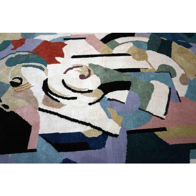 1990s Boccara Artistic Rug – Albert Gleizes – Design N.39 For Sale - Image 5 of 9