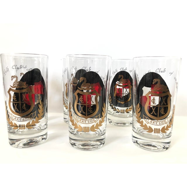 1970s Lakeside Golf Club, Hollywood Highball Glasses - Set of 6 For Sale - Image 4 of 4