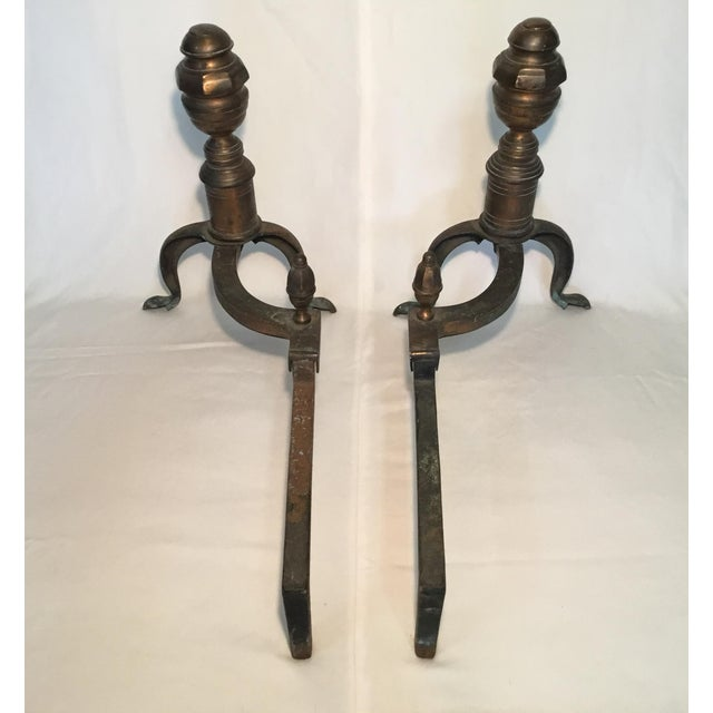 Pair of Bronze Andirons - Circa 1920s For Sale In Los Angeles - Image 6 of 13