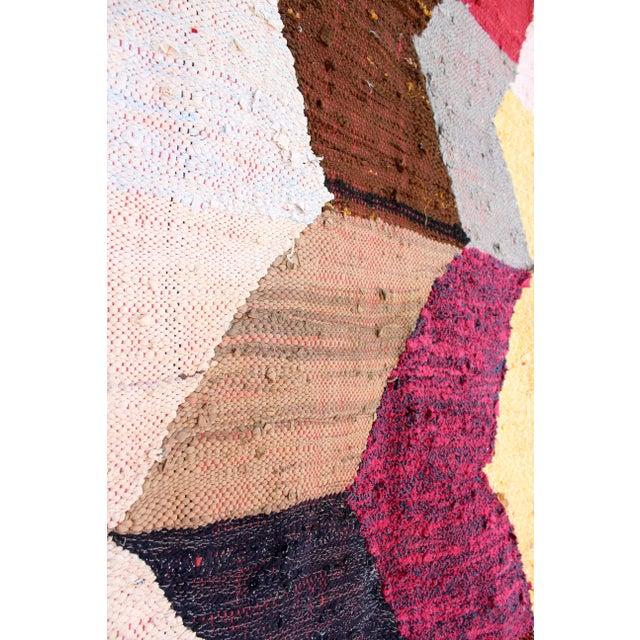 "Moroccan Kilim Boucherouite Rug - 4'3"" X 6'10"" - Image 4 of 6"