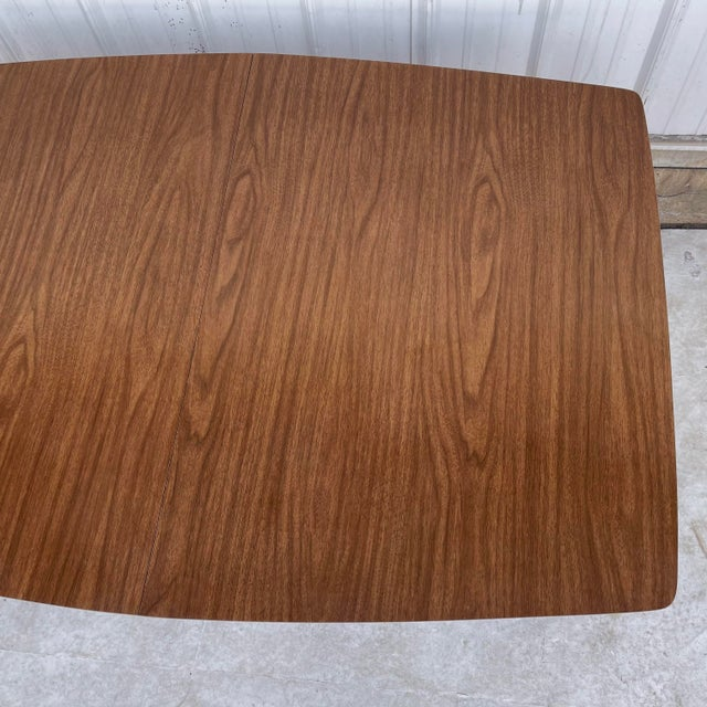 Wood Mid-Century Dining Table With Two Leaves For Sale - Image 7 of 13
