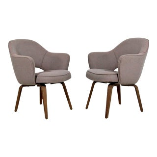 1960s Mid Century Modern Office Armchairs - a Pair