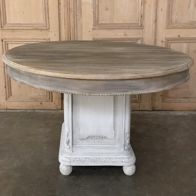 Late 19th Century 19th Century French Louis XVI Painted Pedestal Table For Sale - Image 5 of 13