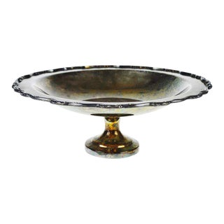 Silverplate Footed Compote Bowl For Sale