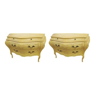 Louis XV-Style Bombe Commodes - A Pair