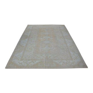 1960s Vintage Turkish Hand-Knotted Rug - 6′7″ × 9′6″ For Sale