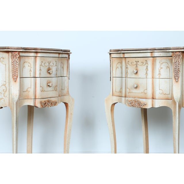 French Style Nightstands - A Pair - Image 6 of 11