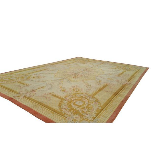 14'x19' Aubusson Design Hand Made Knotted Rug - Size Cat. 12x18 13x20 - Image 3 of 12