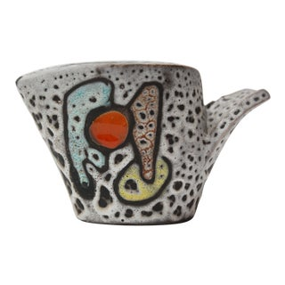 West German Volcanic Lava Glaze Ceramic Creamer For Sale