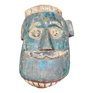 Mid 20th Century Tribal Mask of Hindu God Indrid For Sale