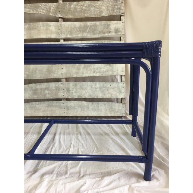 Royal Blue Tani Wood Console Table - Image 6 of 11