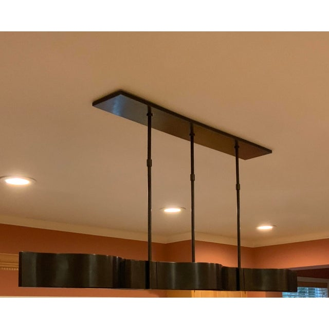 Visual Comfort Visual Comfort Modern Linear Chandelier For Sale - Image 4 of 6