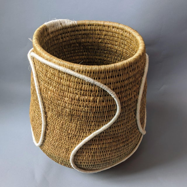 African Swaziland Handwoven African Basket For Sale - Image 3 of 11