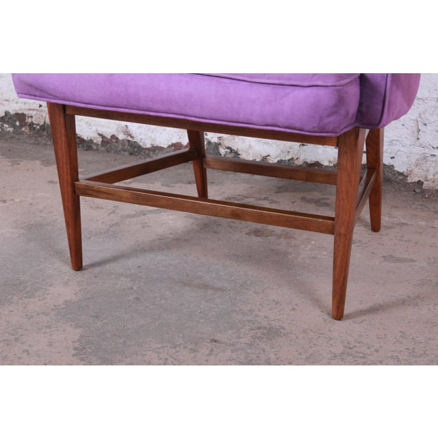 Kipp Stewart for Directional Mid-Century Modern Lounge Chairs - a Pair For Sale - Image 9 of 13