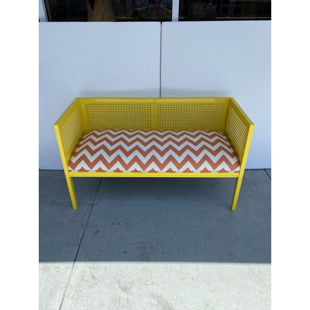 Midcentury Cane Loveseat For Sale - Image 13 of 13