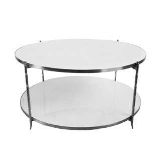 Round White Marble Coffee Table For Sale