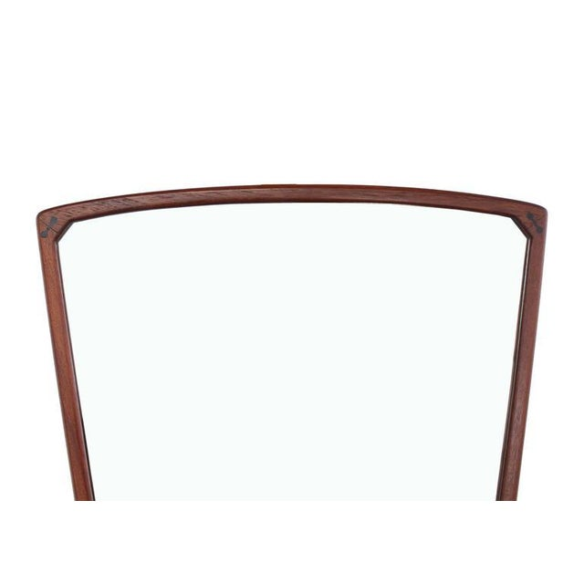 Wood Danish Mid-Century Modern Adjustable Wall Mirror with Shelf For Sale - Image 7 of 9