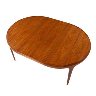 Ib Kofod Larsen Danish Teak Oval Dining Table For Sale