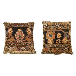 """Vintage Art Deco Persian Hamadan Pillow Size 19"""" H X 18"""" , 18"""" H X 16"""" W. - a Pair For Sale"""