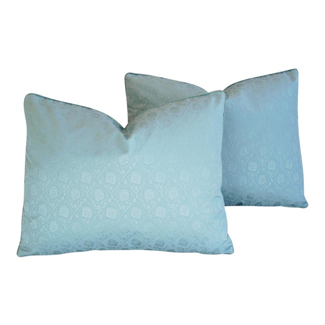 Powder Blue French Lelievre of Paris Pillows - a Pair - Image 1 of 11