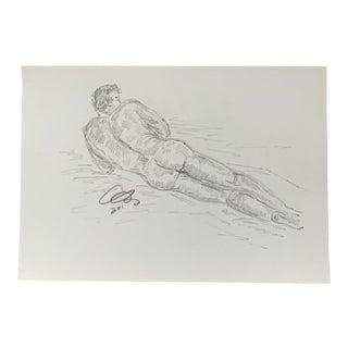 Boy III Drawing by Alex Baker For Sale