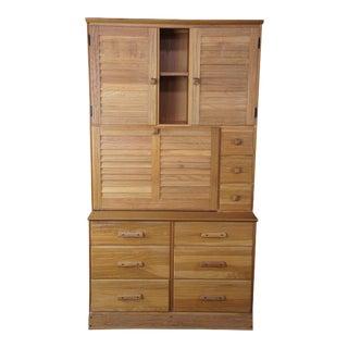 Brandt Ranch Oak Secretary Desk with Hutch #2947 For Sale