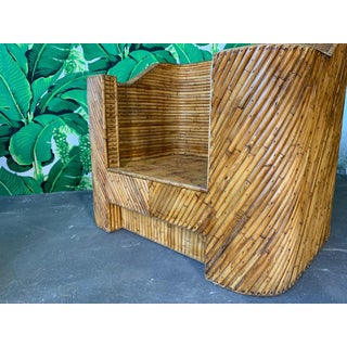Split Reed Bamboo Club Chairs in the Manner of Gabriella Crespi Preview