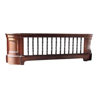 Wood & Iron Large Radiator Cover For Sale