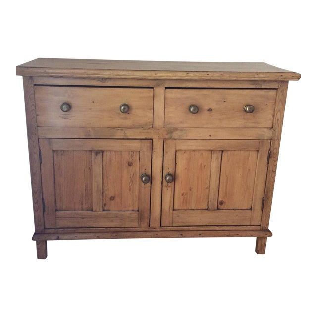 Antique English Pine Buffet For Sale