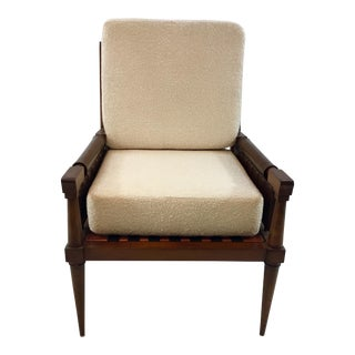Global View Palm Beach Woven Leather Club Chair For Sale